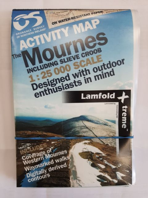 The Mournes Inc Slieve Croob Activity Map - Waterproof 1:25000 Scale